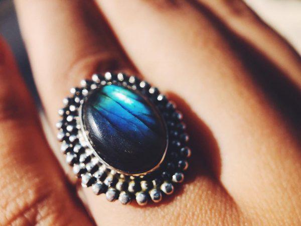 edelsteen boho ring