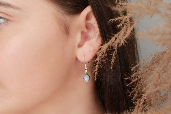 maansteen oorbellen