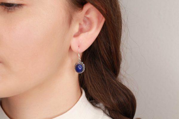 lapis lazuli edelsteen oorbellen