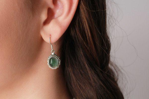 groen apatiet oorhangers