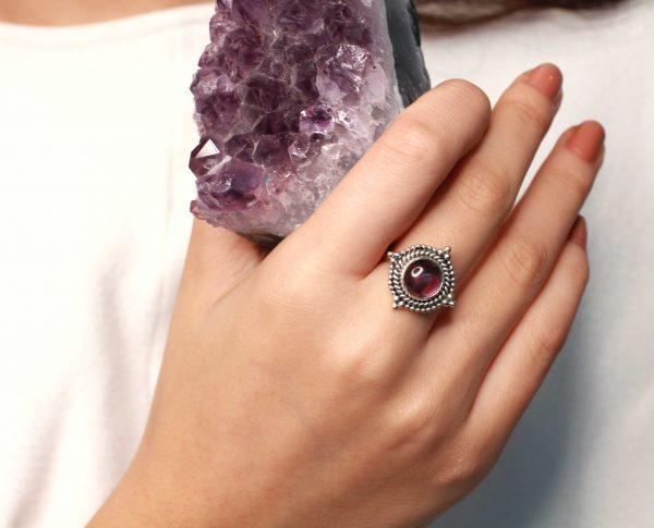 amethist zilver ring