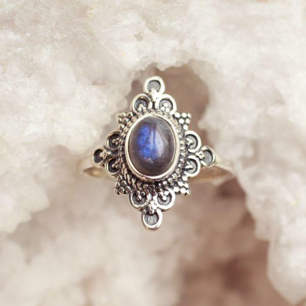 labradoriet edelsteen ring