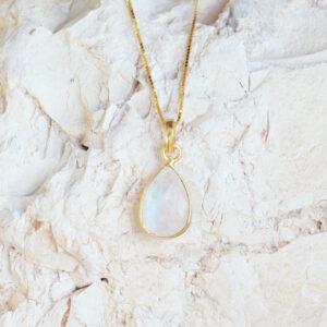 maansteen gouden ketting