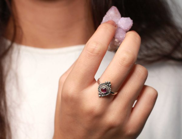 amethist edelsteen ring
