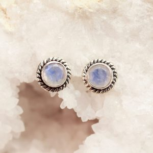 maansteen moonstone earrings