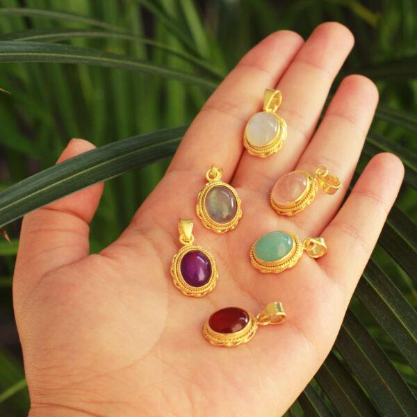 gouden edelsteen sieraden