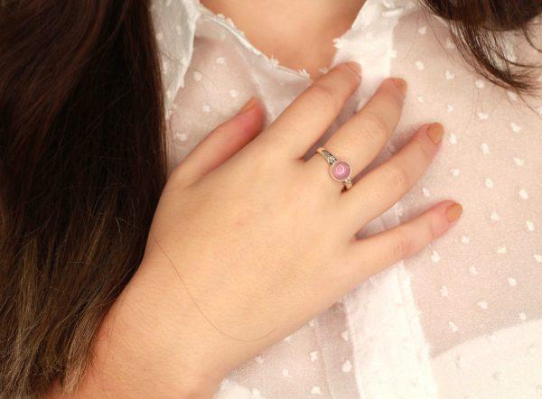 rozenkwarts edelsteen ring