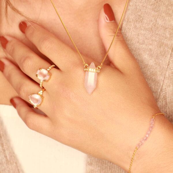 rozenkwarts sieraden goud