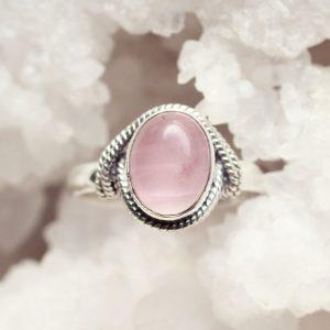 rozenkwarts ring zilver
