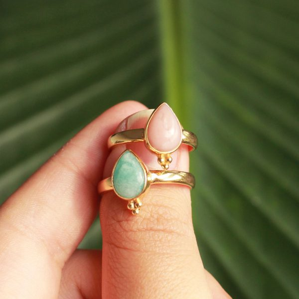 pastel gemstone ring