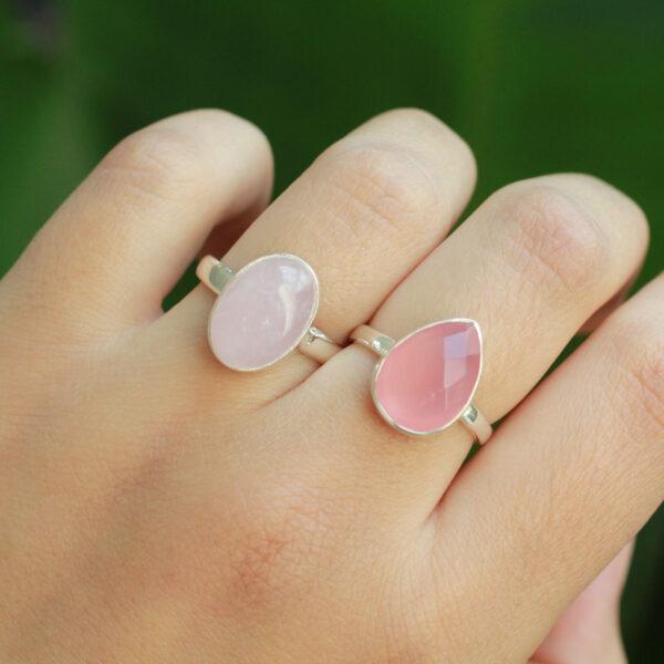 roze edelsteen ringen