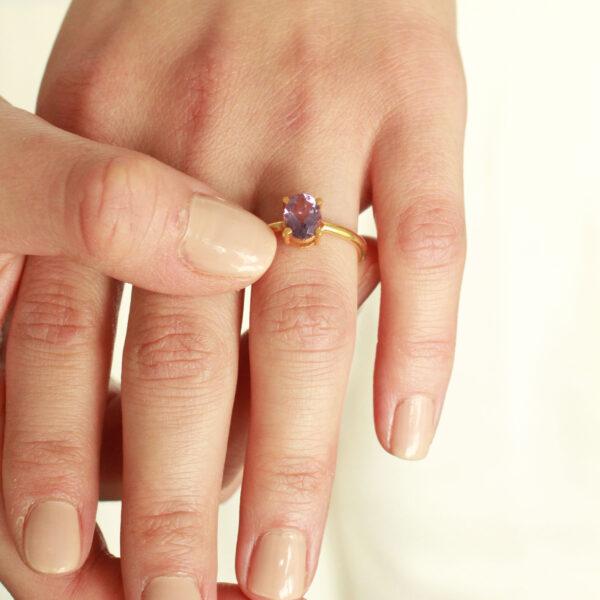 gouden amethist ring
