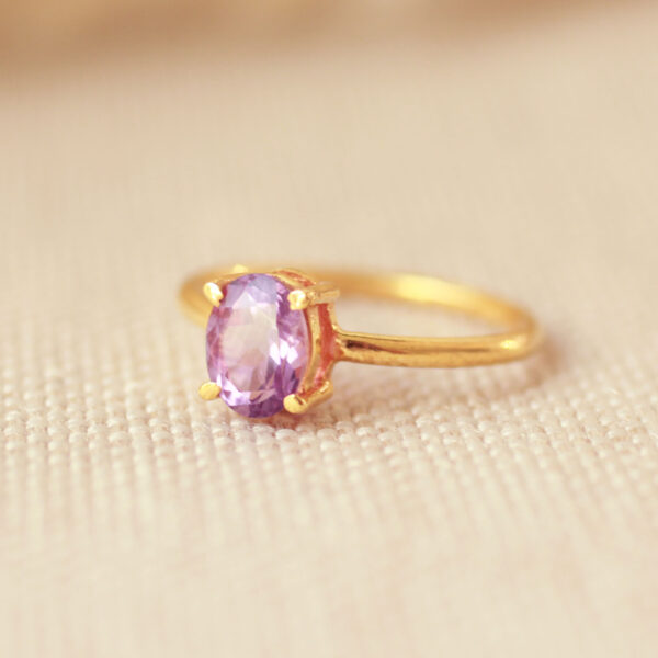 amethist ring goud