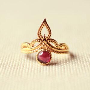 GRANAAT goud ring