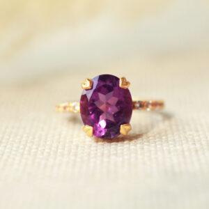 amethist goud ring