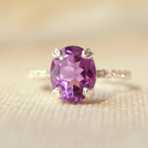 amethist ring diamanten