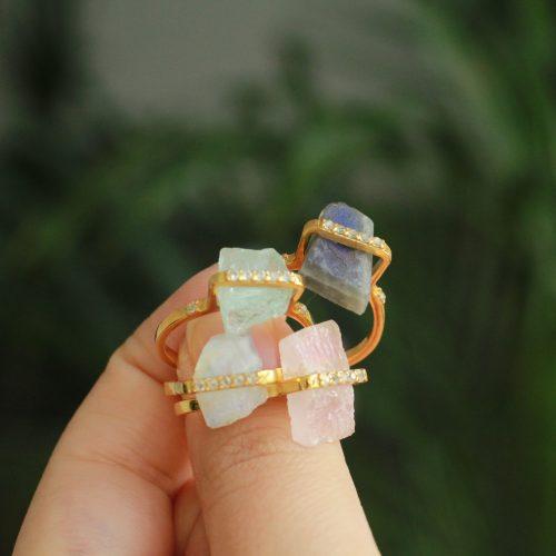 ruwe edelsteen ringen