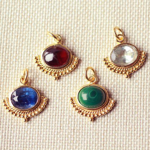 gouden edelsteen hangers